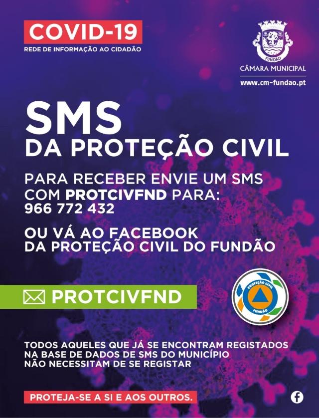 SMS da Proteção Civil